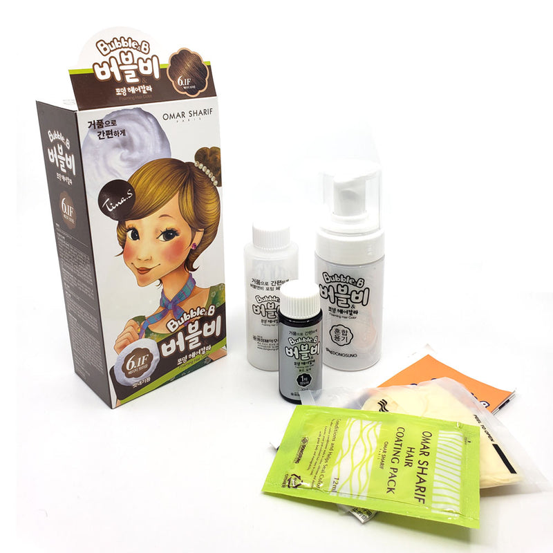 Fascy K-Beauty Bubble&B Bubble Forming Hair Color Easy Permanent Hair Dye Kit
