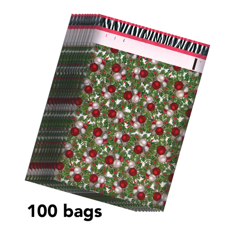 100/200/1000 CT 10 x 13 Mistletoe Premium Designer Printed Poly Mailer Shipping Envelopes Waterproof Self Seal Adhesive Package Mail Bag