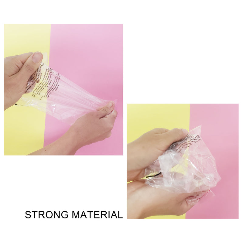 1.5 Mil Seal Seal Clear Flat Bags with Suffocation Warning, 6 x 9 to 14 x 20 inch 100 Bags Resealable Clear & Extra Super Strong Seal for Clothes