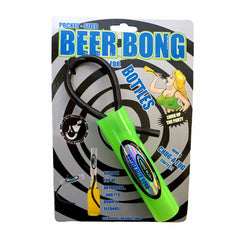 Bottle Beer Bong - Pocket Sized! NEW - Bright GREEN Color!