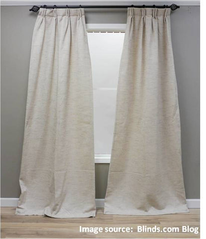 Are your new curtains flaring at the bottom for Spiffy spools