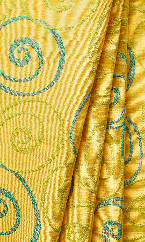 yellow custom cotton curtains image I Extra Long