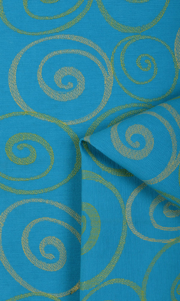 Extra Wide I blue custom cotton curtains image
