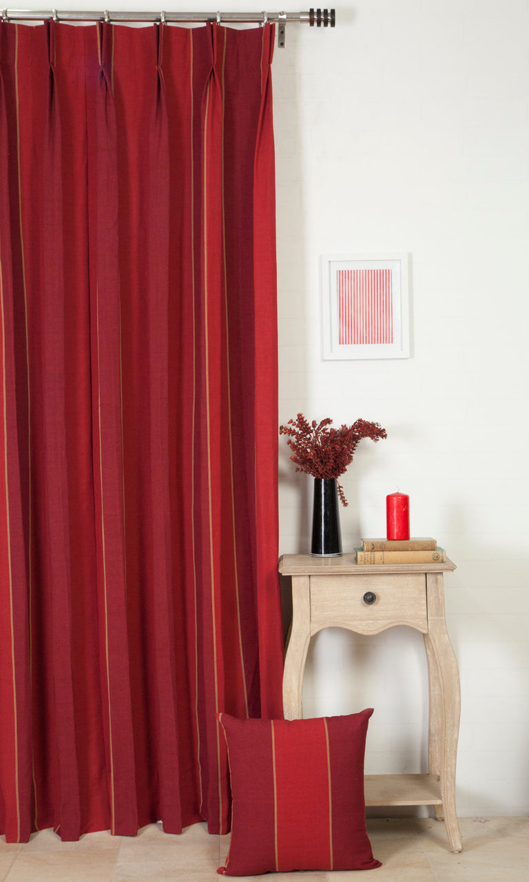 red custom cotton curtains image. Narrow Curtains.