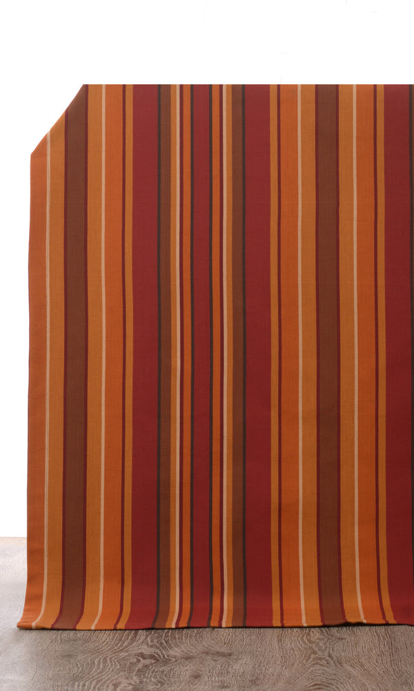 red or orange custom cotton curtains image I Extra Long