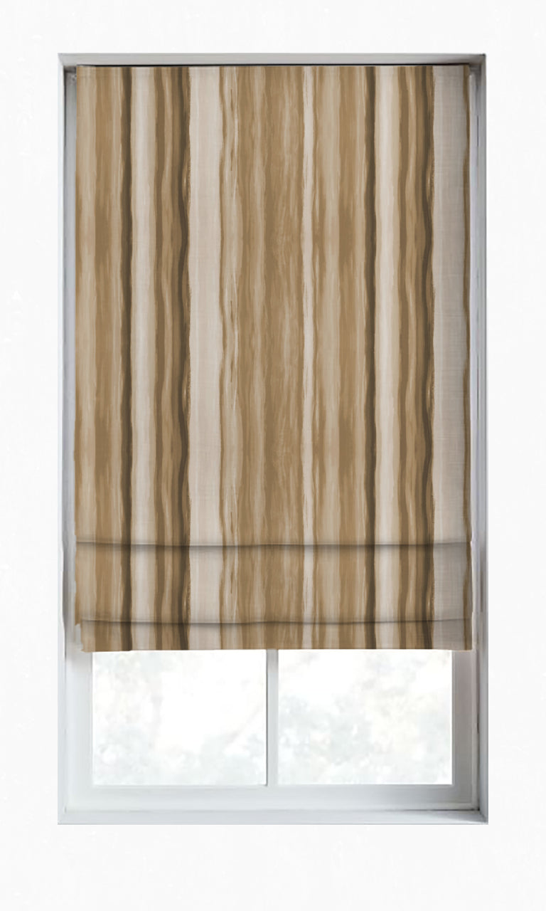 Room Darkening Striped Custom Drapes & Shades