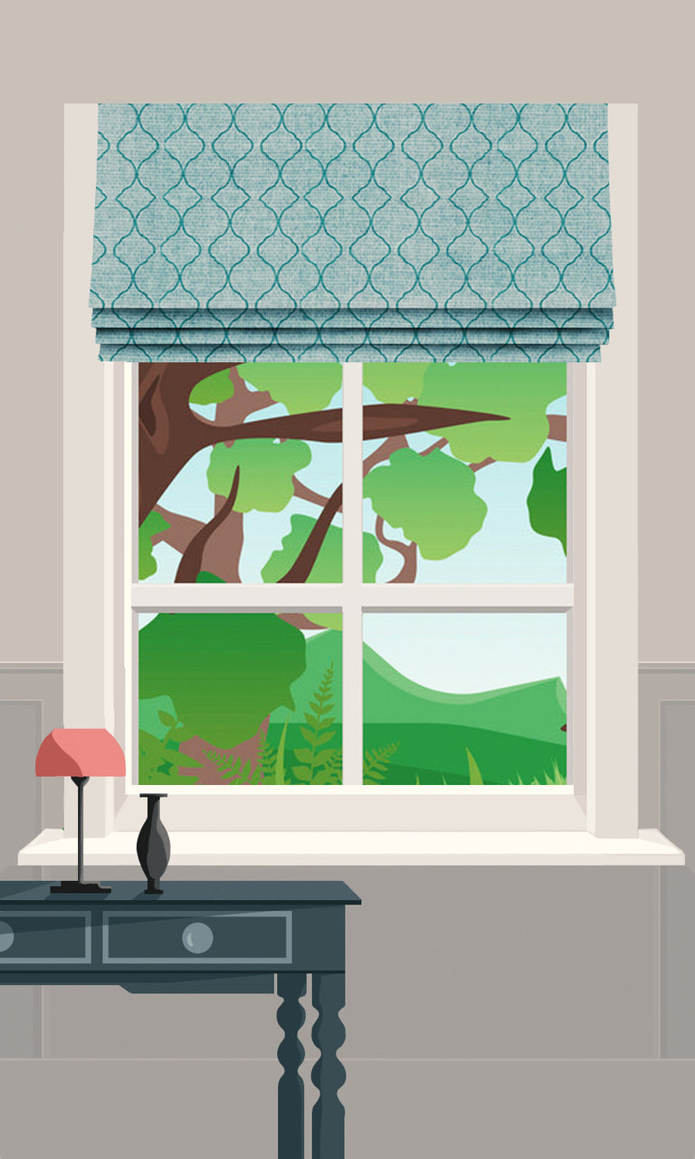 faux roman shades image