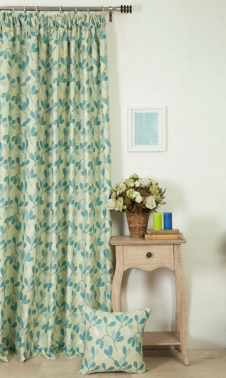 dew blue green custom curtains image. Narrow Curtains.