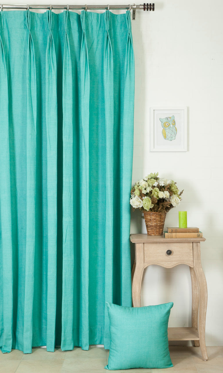 blue custom curtains image
