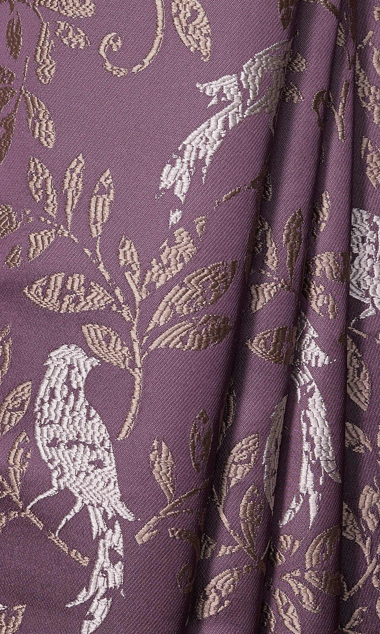 Mauve Purple French Country Paisley Print custom Curtains I Extra Long