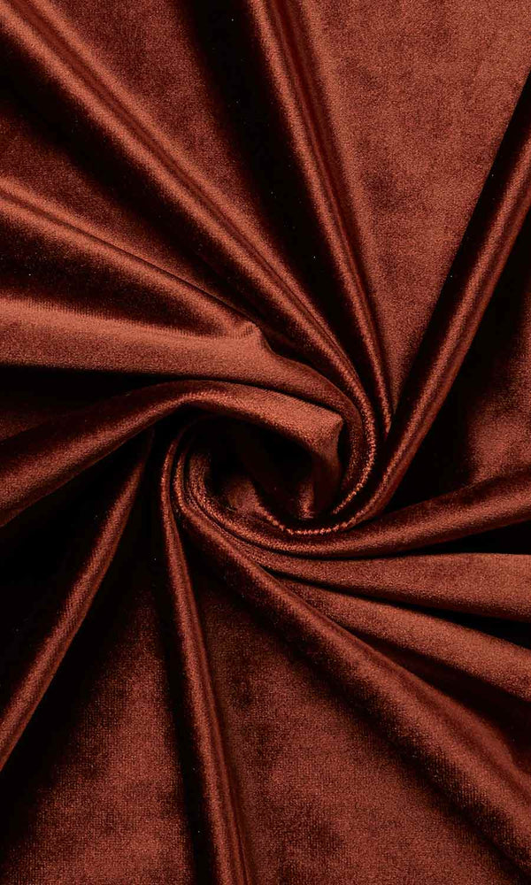 Orange Brown Velvet custom Curtains