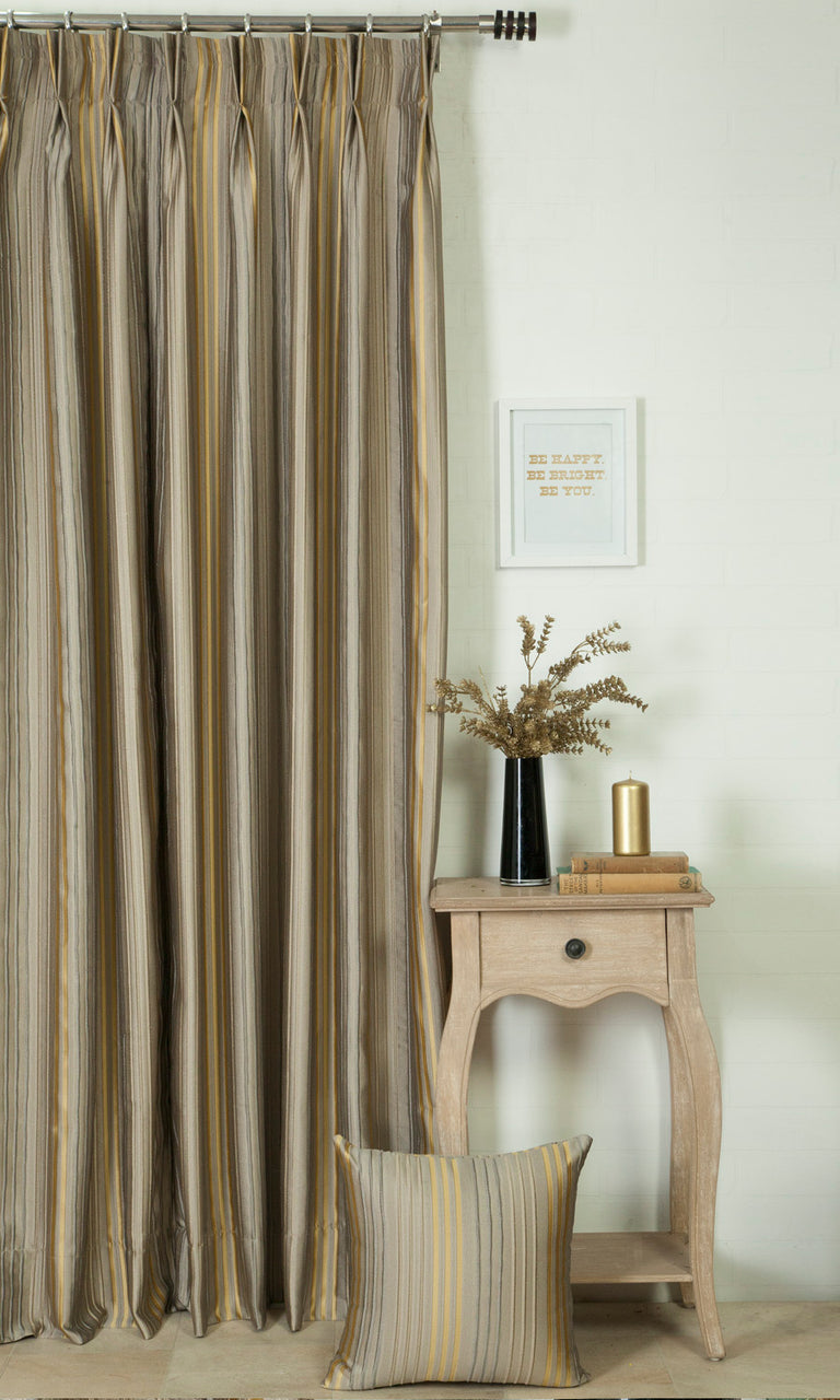 beige custom curtains image