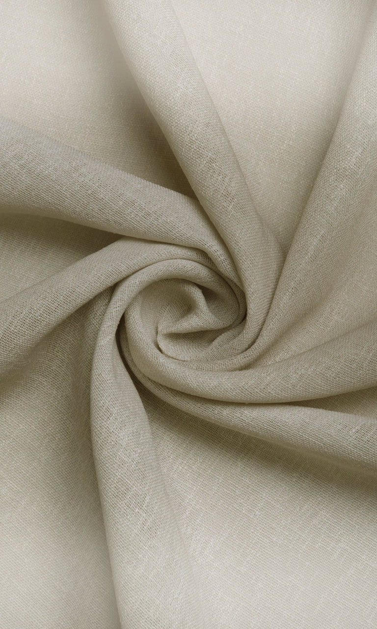 Ombre effect white brown beige cream linen sheer curtains