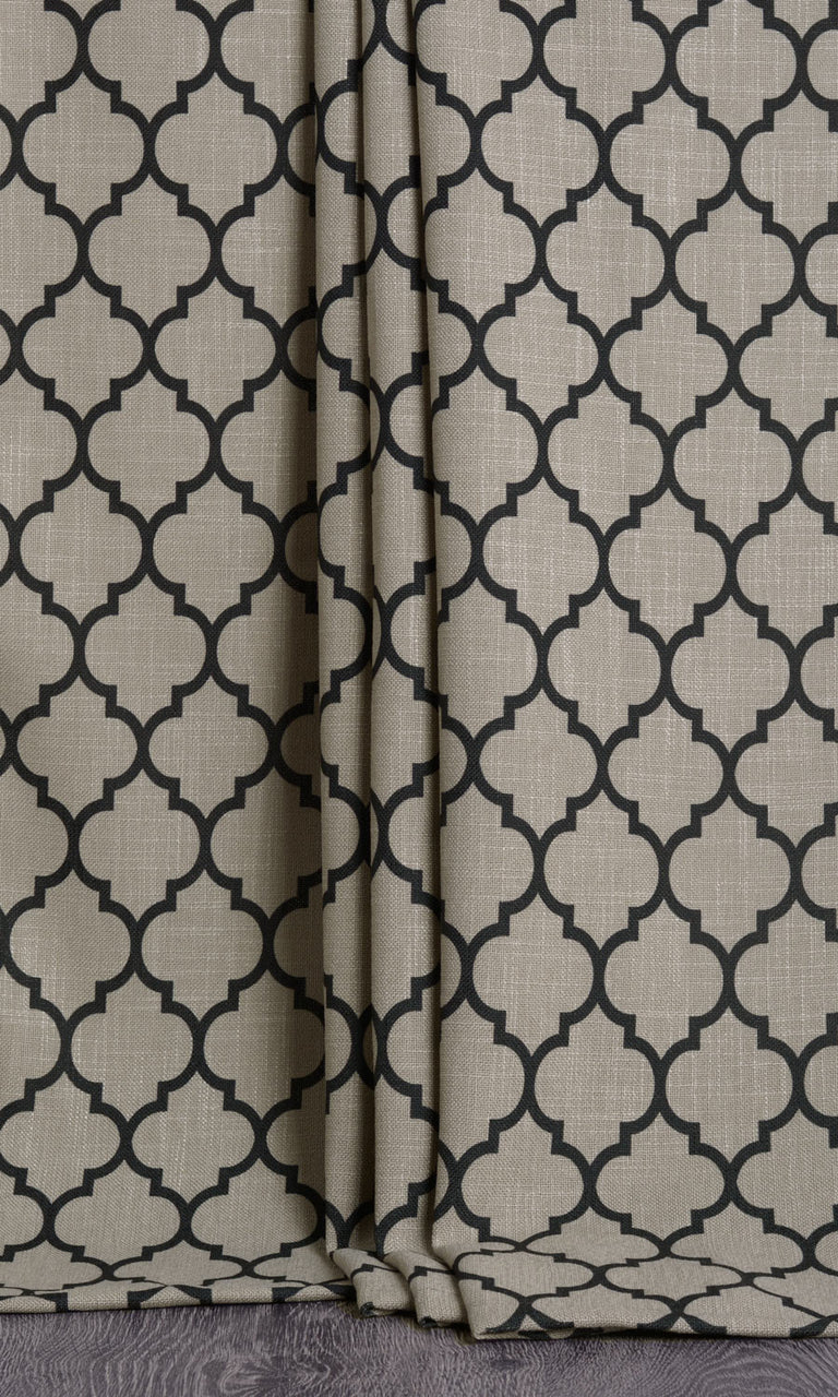 Moroccan Tile Patterned Curtains