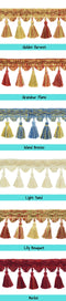 drapes with decorative tassels window curtains photo