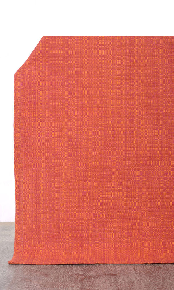 orange red custom cotton curtains image I Extra Long