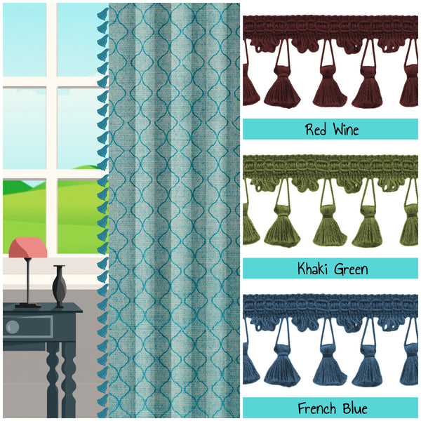 custom length drapes with tassels photo