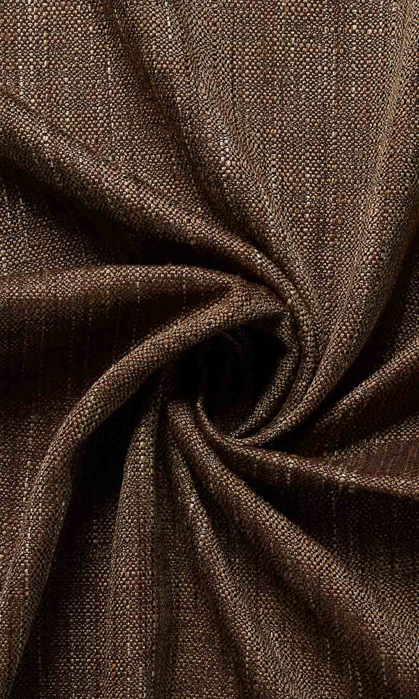 Extra Wide I Woven Brown custom Curtains