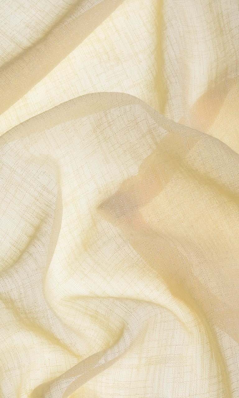 Solid honey yellow sheer linen curtains