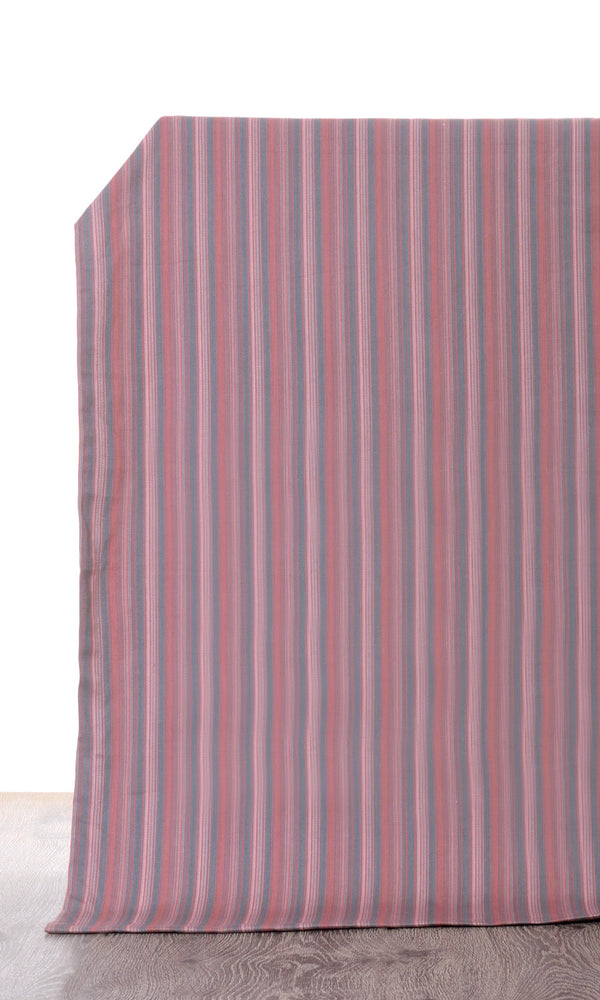 Extra Wide I pink grey custom cotton curtains image