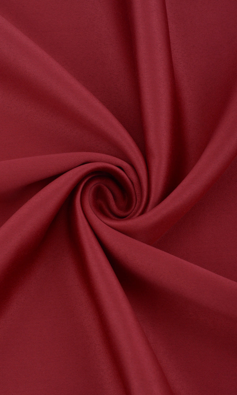 Solid Plain Red Room Darkening Blackout Bedroom Drapes Drapery Image