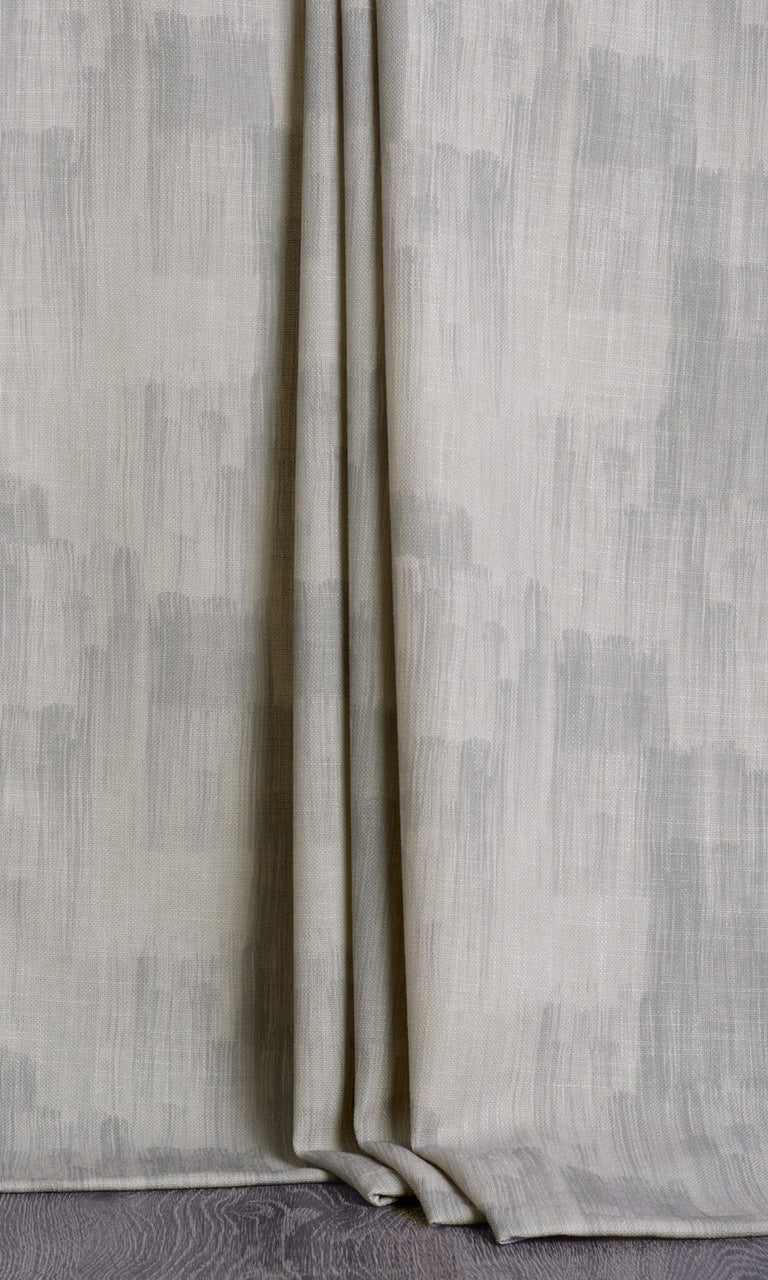 Abstract print grey curtains