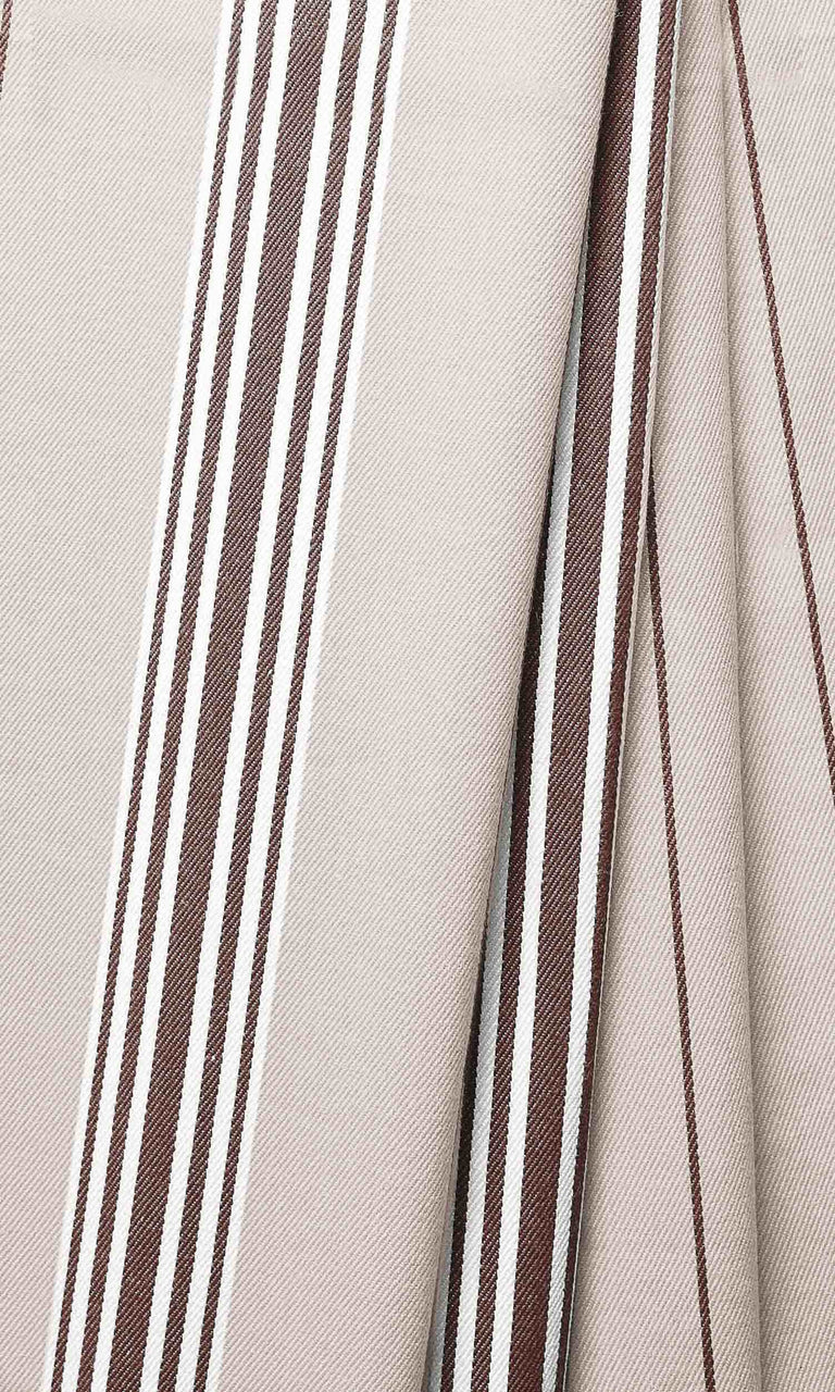 brown or beige custom cotton curtains image