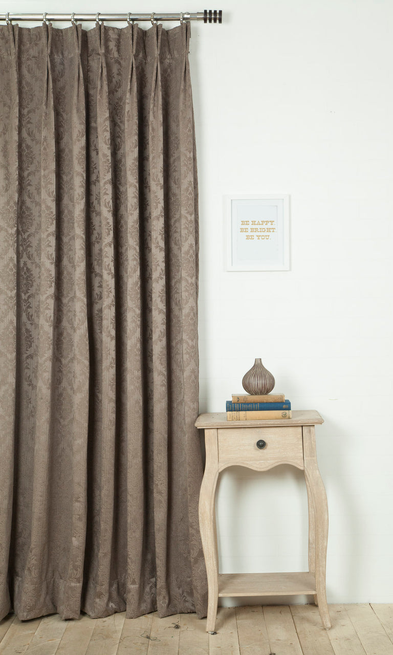 brown custom curtains image I Extra Long