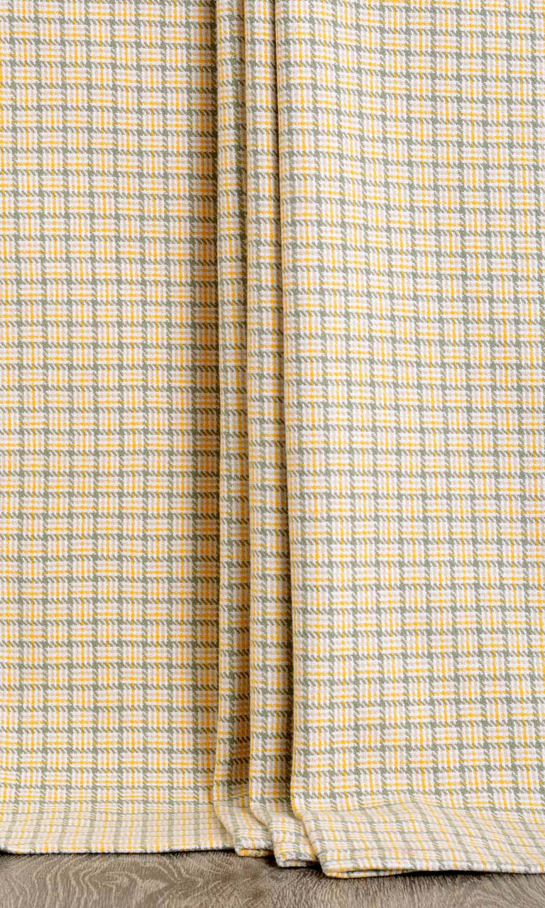 Basketweave Patterned Curtain Panels. Narrow Curtains.
