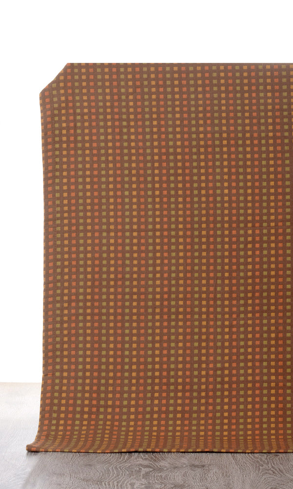 brown custom cotton curtains image I Extra Long