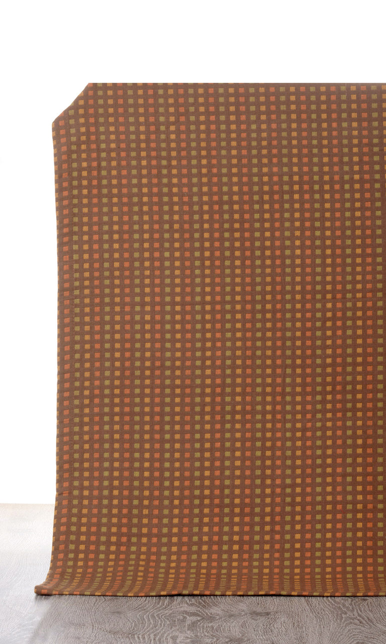 brown custom cotton curtains image