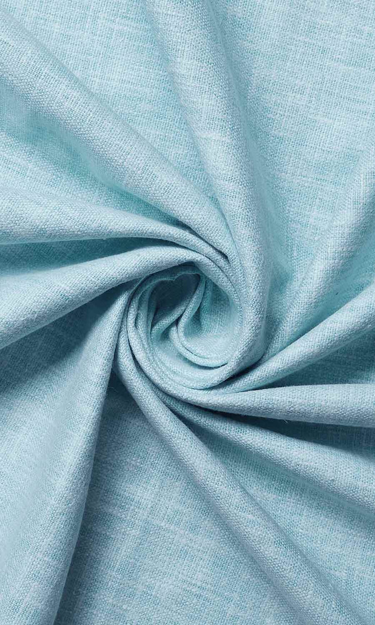 Light Blue Cotton Blend custom Curtains