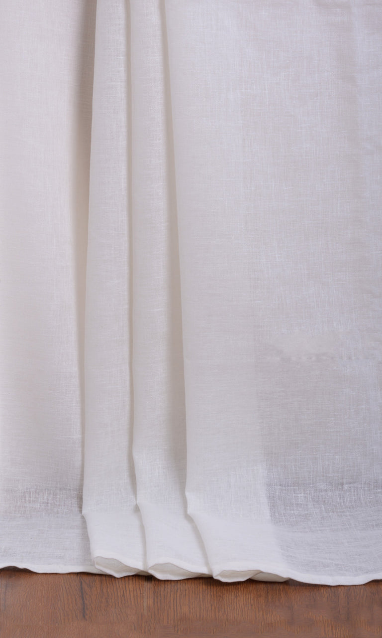 Plain white sheer curtains. Narrow Curtains.