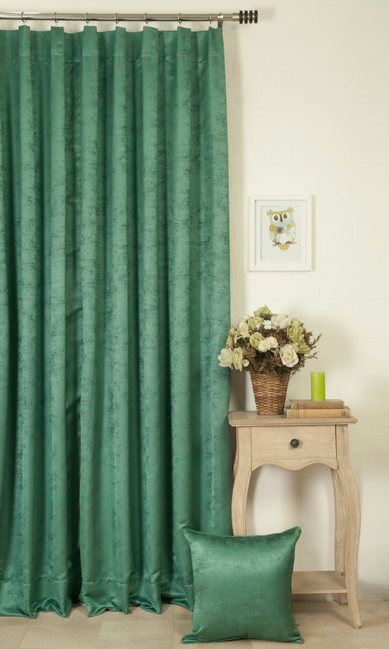 green custom window treatments image. Narrow Curtains.