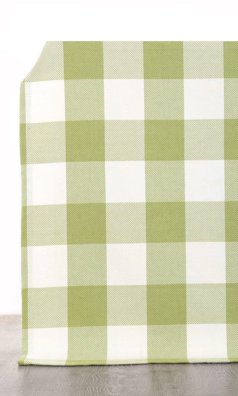 Gingham Check Cotton Curtains. Narrow Curtains.