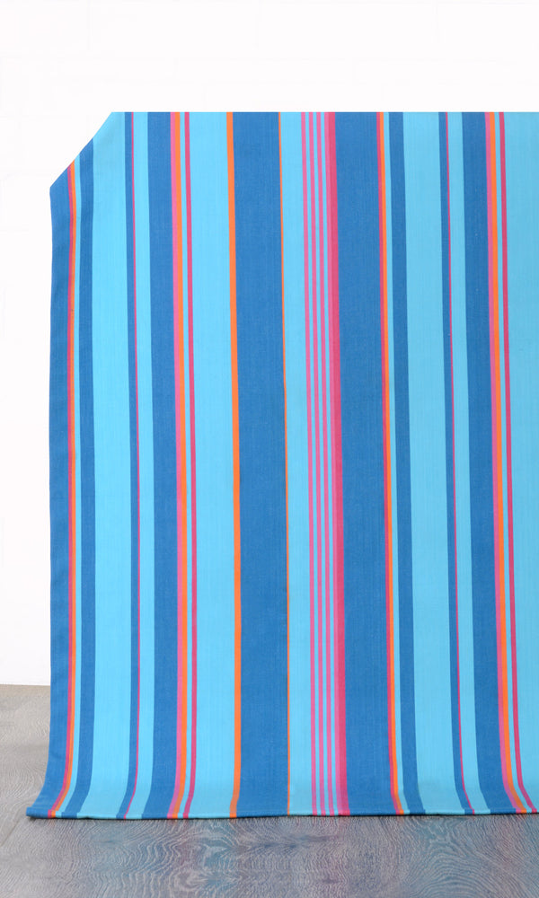 blue custom cotton curtains image I Extra Long