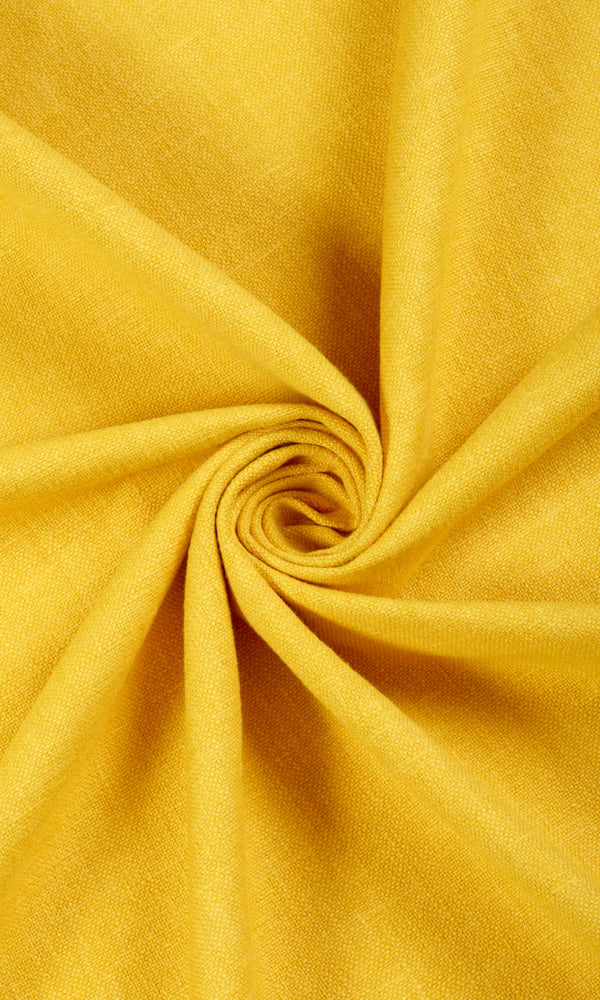 Elegant Textured Yellow Bedroom Nursery Playroom Drapery Drapes Image