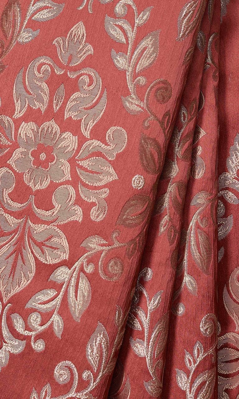 Red Damask Pattern custom Curtains