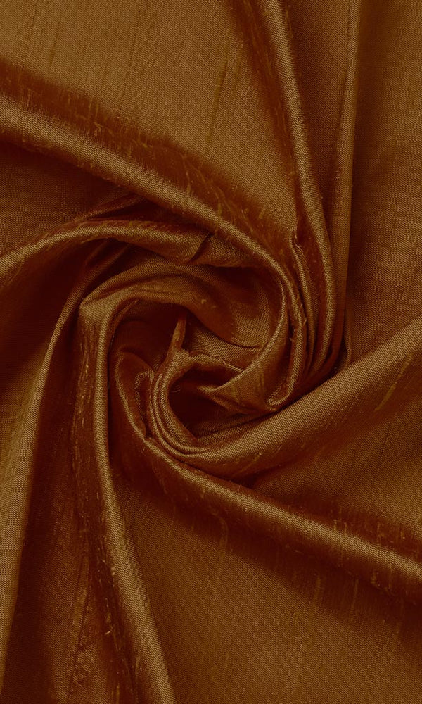 Brown Pure Silk Curtains I Handstitched and Shipped for Free I Custom Window Drapes