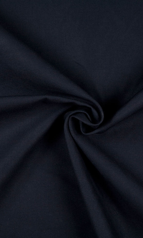 navy blue custom cotton curtains image