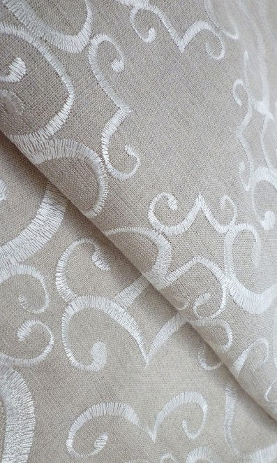 custom natural linen curtains image
