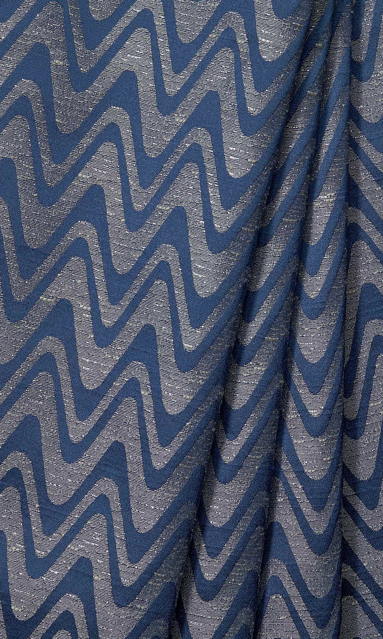 Navy Blue and Grey Self-Patterned Geometric custom Curtains. Narrow Curtains.