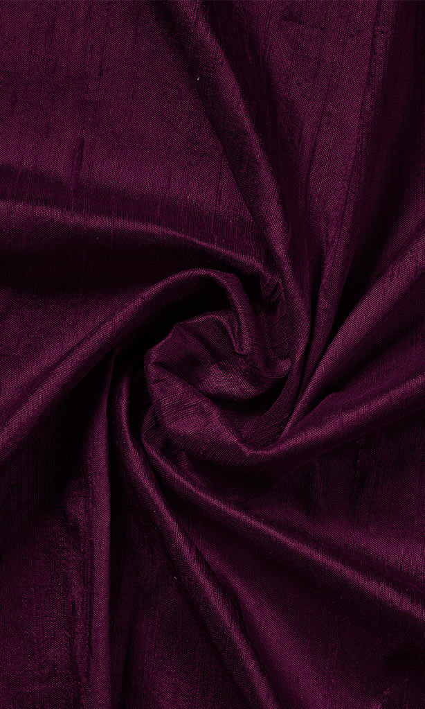 Deep Pink Dupioni Silk Curtains I Handstitched and Shipped for Free I Extra Long