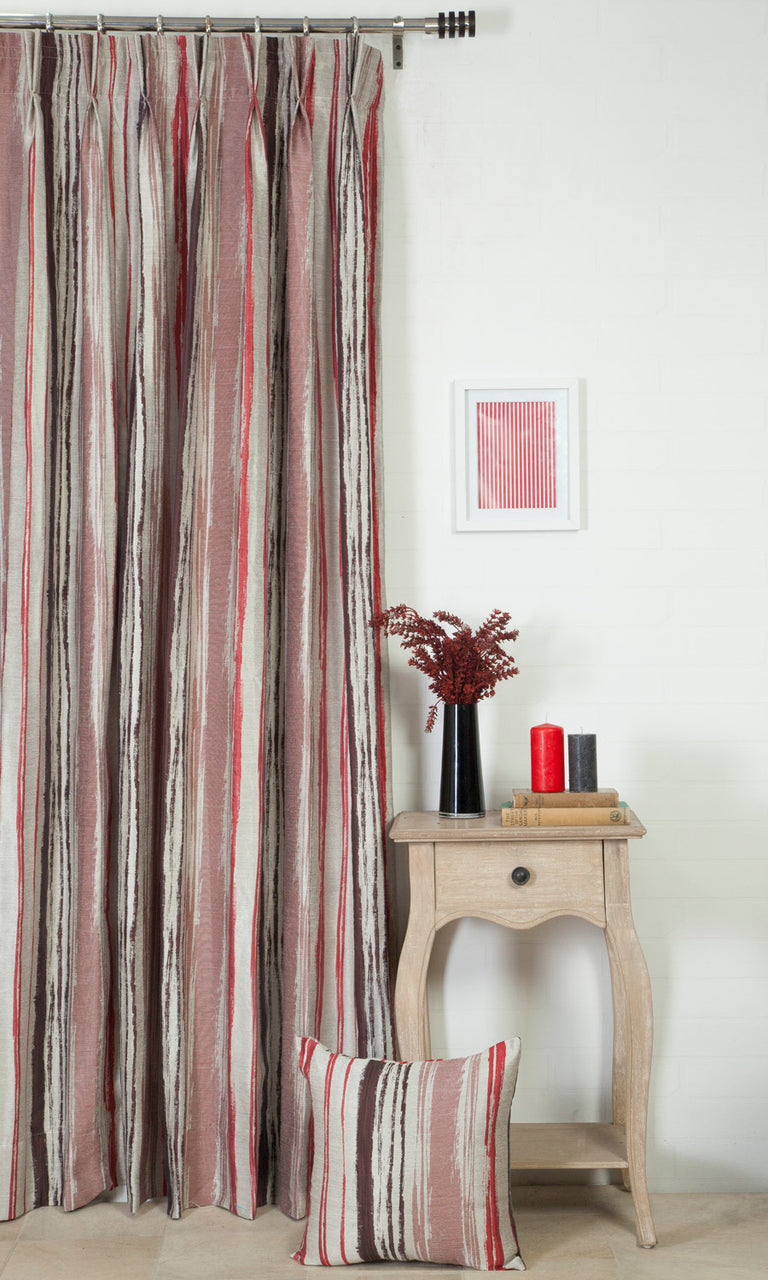 burgundy red custom curtains image