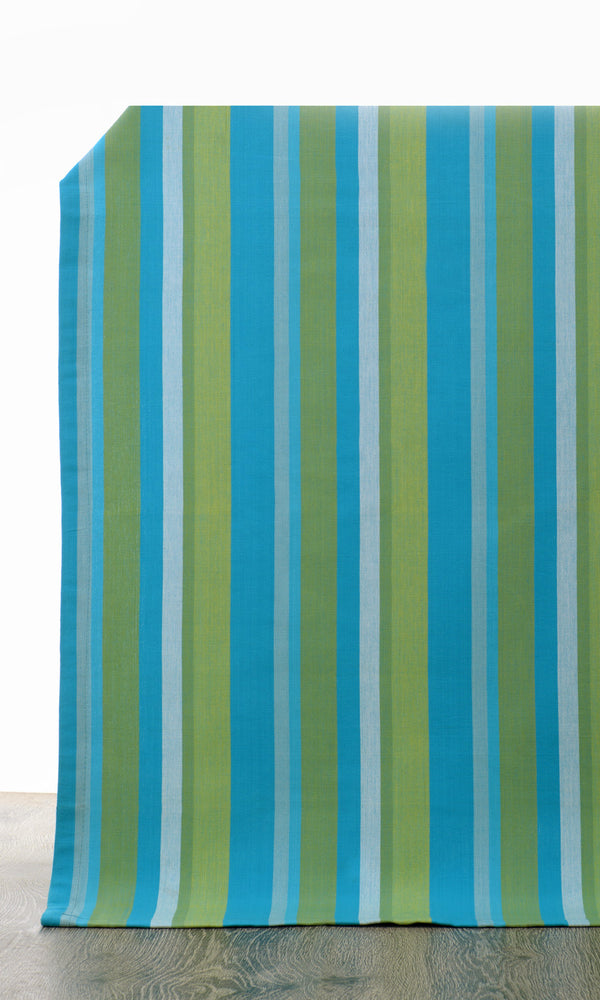 blue or green custom cotton curtains image I Extra Long