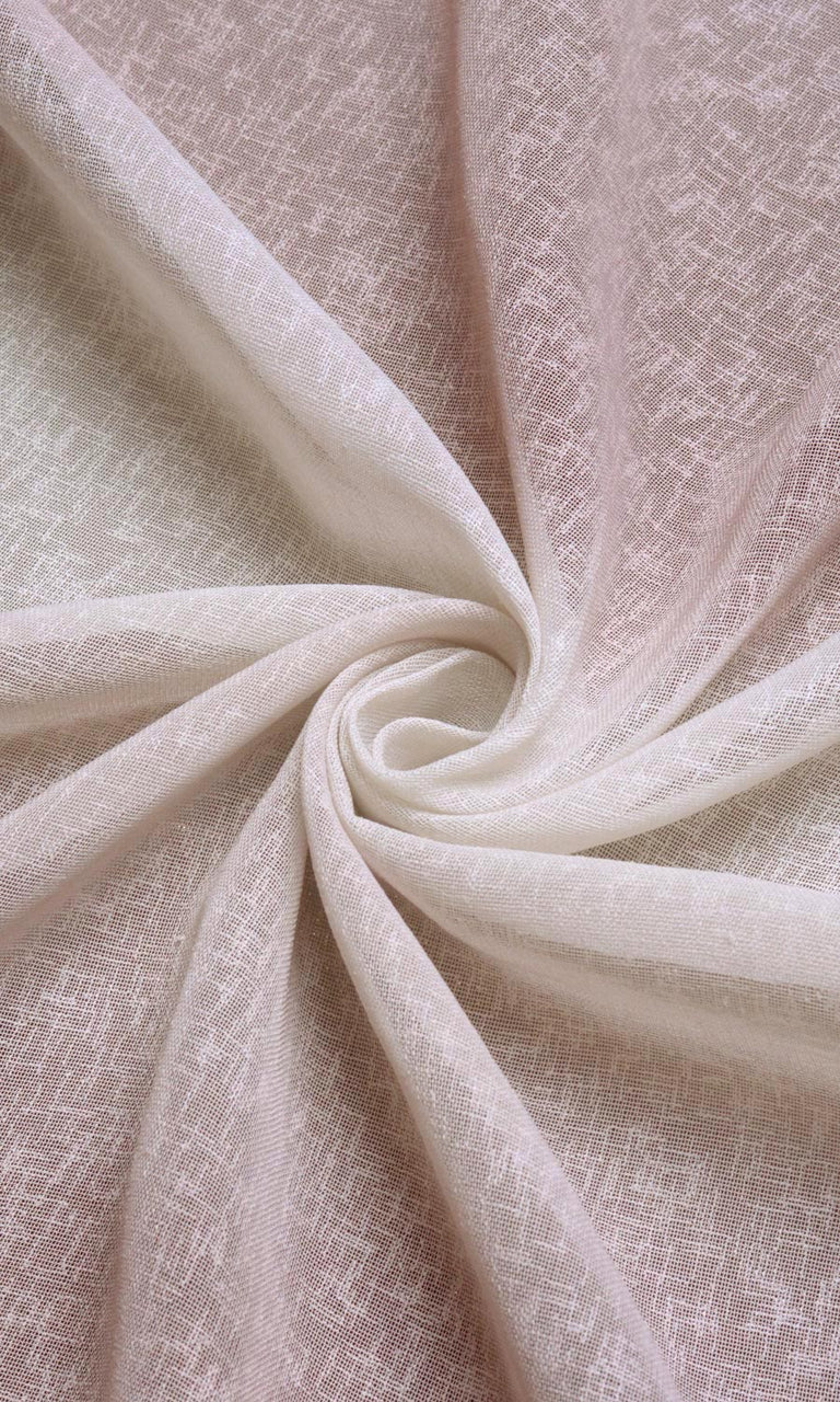 Ombre effect white pink linen sheer curtains I Extra Long
