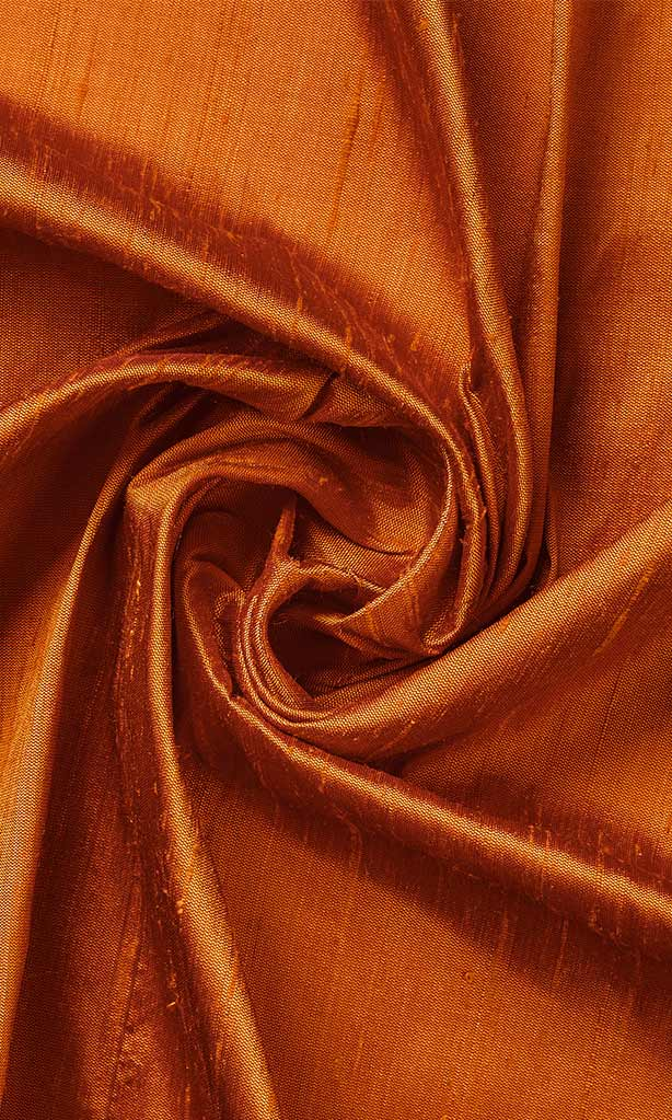Orange Pure Silk Curtains I Handstitched and Shipped for Free I Custom Window Curtains. Narrow Curtains.