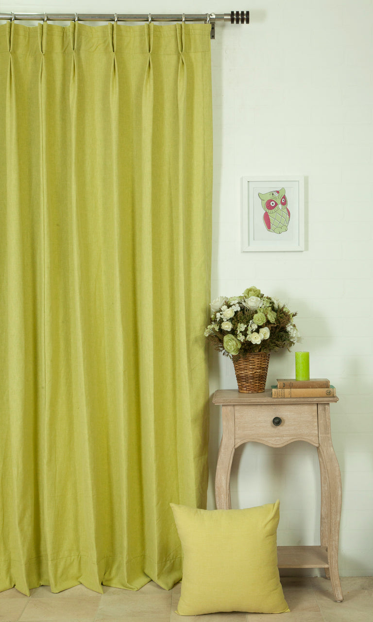 green custom window treatments image