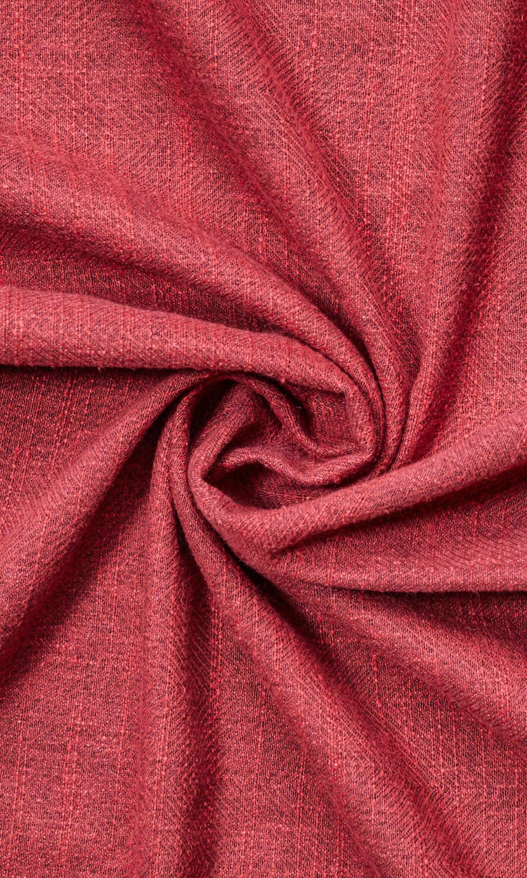 Burgundy Red Herringbone Linen custom Curtains