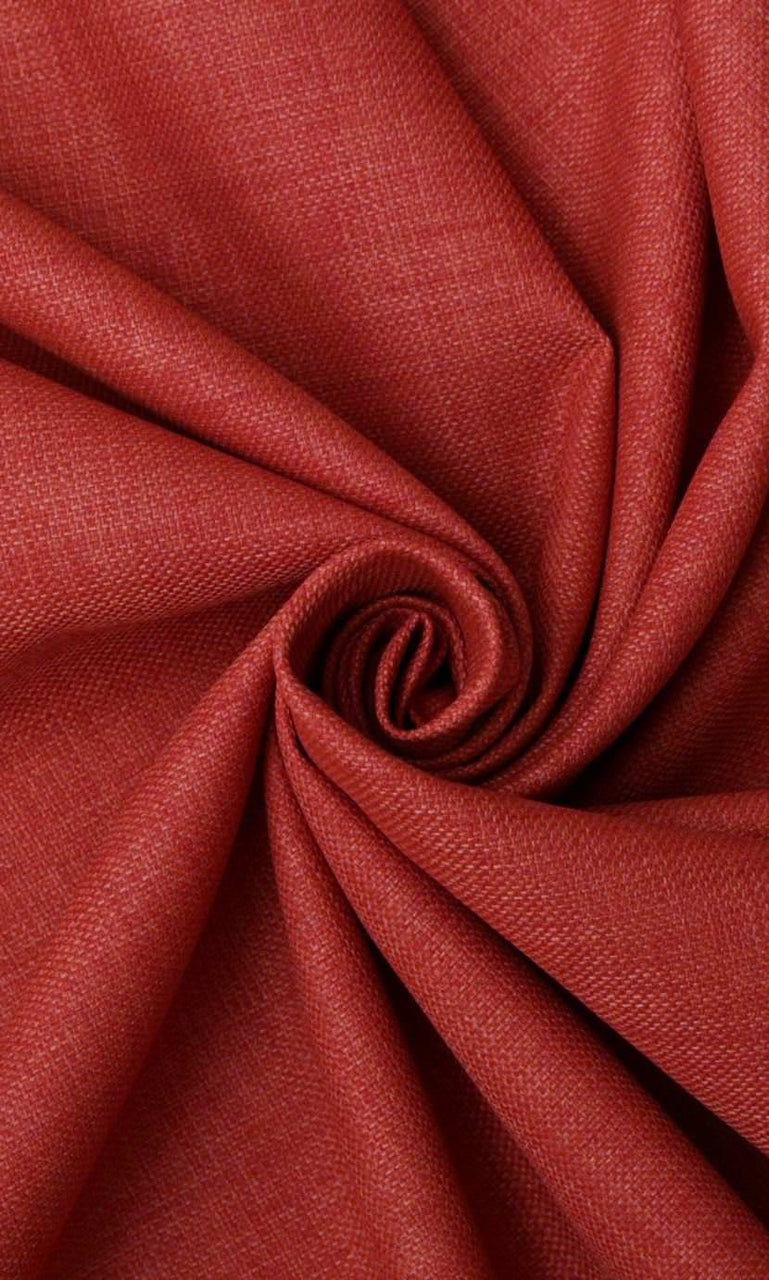 Red linen curtains image